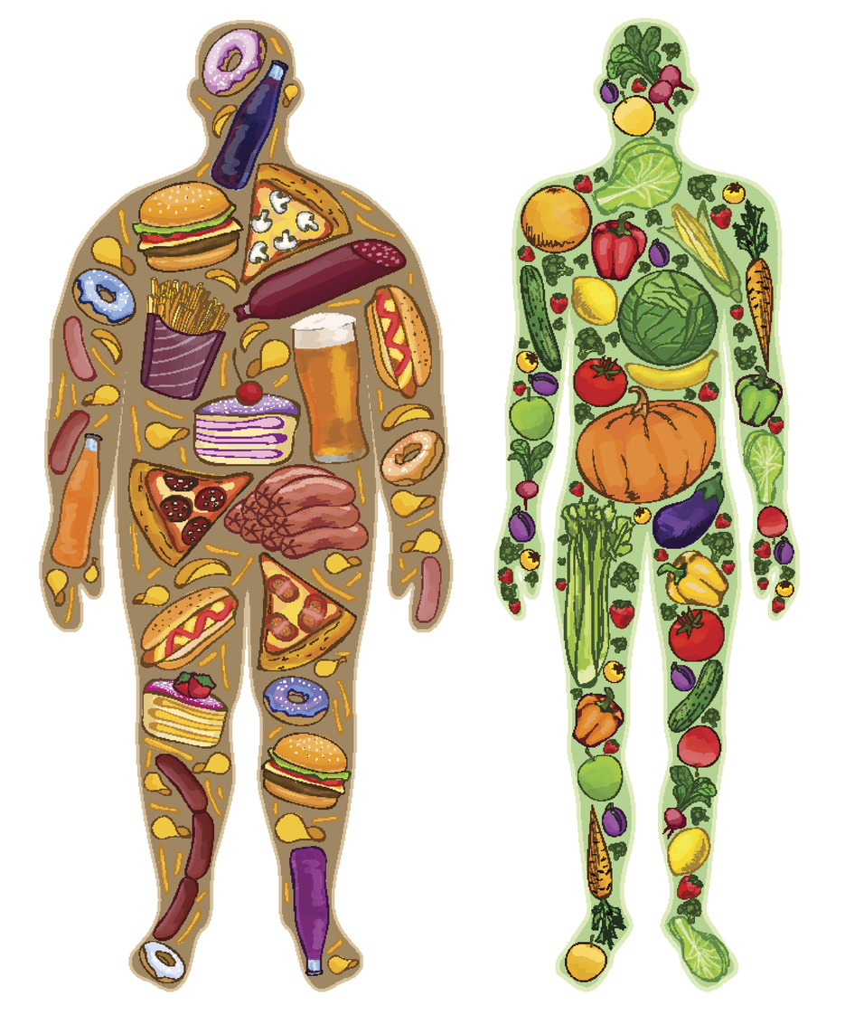 unhealthy vs healthy body