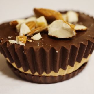 Crunchy Almond Chocolate Protein Peanut Butter Cups