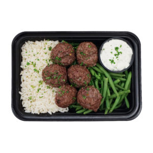 Beef Kofta Meatballs with Tzatziki
