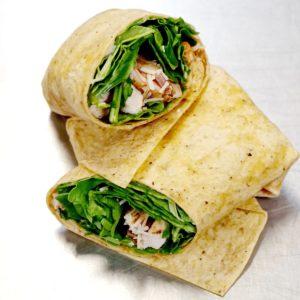 Spinach Chicken Caesar Wrap