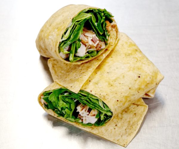 Spinach Chicken Caesar Wrap